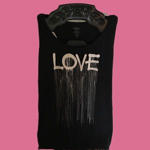 Torrid graffiti love top sz.4x